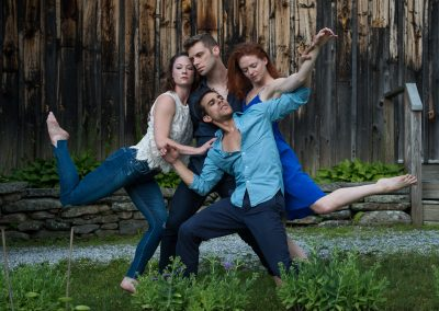 Michael Novak, Laura Halzack, Francisco Graciano, and Heather McGinley of Paul Taylor Dance Company
