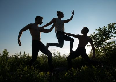 Francisco Graciano, Laura Halzack, and Michael Novak of Paul Taylor Dance Company
