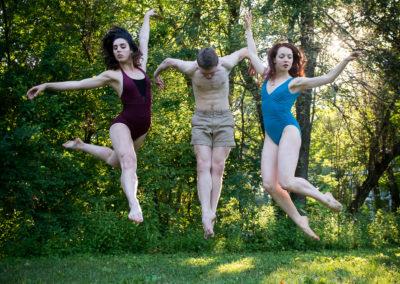 Lauren Worley, Matthew Gilmore and Moscelyne Parke Harrison